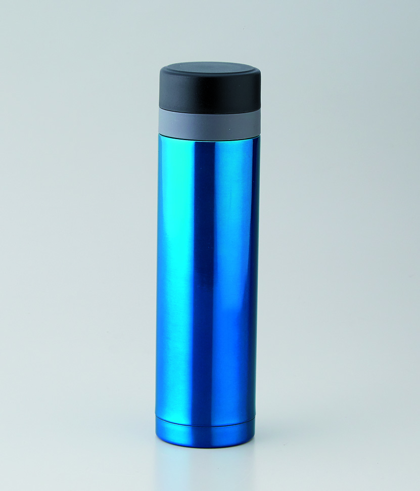 セルトナ・ストッパー付き真空ステンレスボトル ブルー
