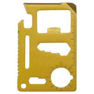 メタリック・カード型多機能ツール(ケース付き)ゴールド