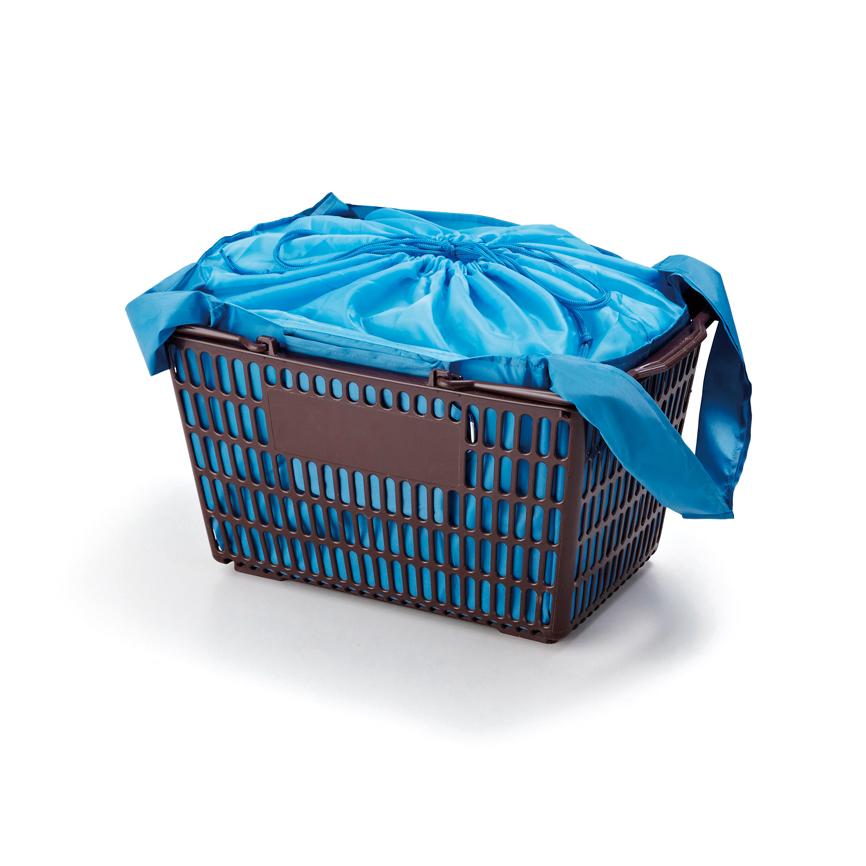 セルトナ・巾着ショッピングポータブルエコバッグ(カラビナ付き)レッド