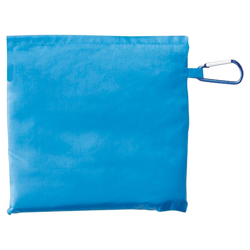 セルトナ・巾着ショッピングポータブルエコバッグ(カラビナ付き)ブルー