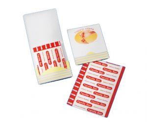 オリジナル紙製ケース付き 絆創膏 Mサイズ×4枚