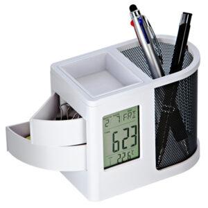 ペンスタンド デジタル時計 小物入れ 収納便利