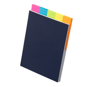 5色ふせんノート ピンク ブルー ライトグリーン イエロー オレンジ 表紙  紺色