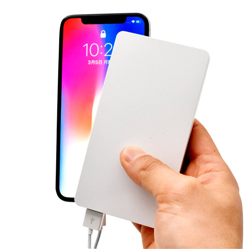 Qi(チー)対応バッテリーチャージャー6,000mAh(白)
