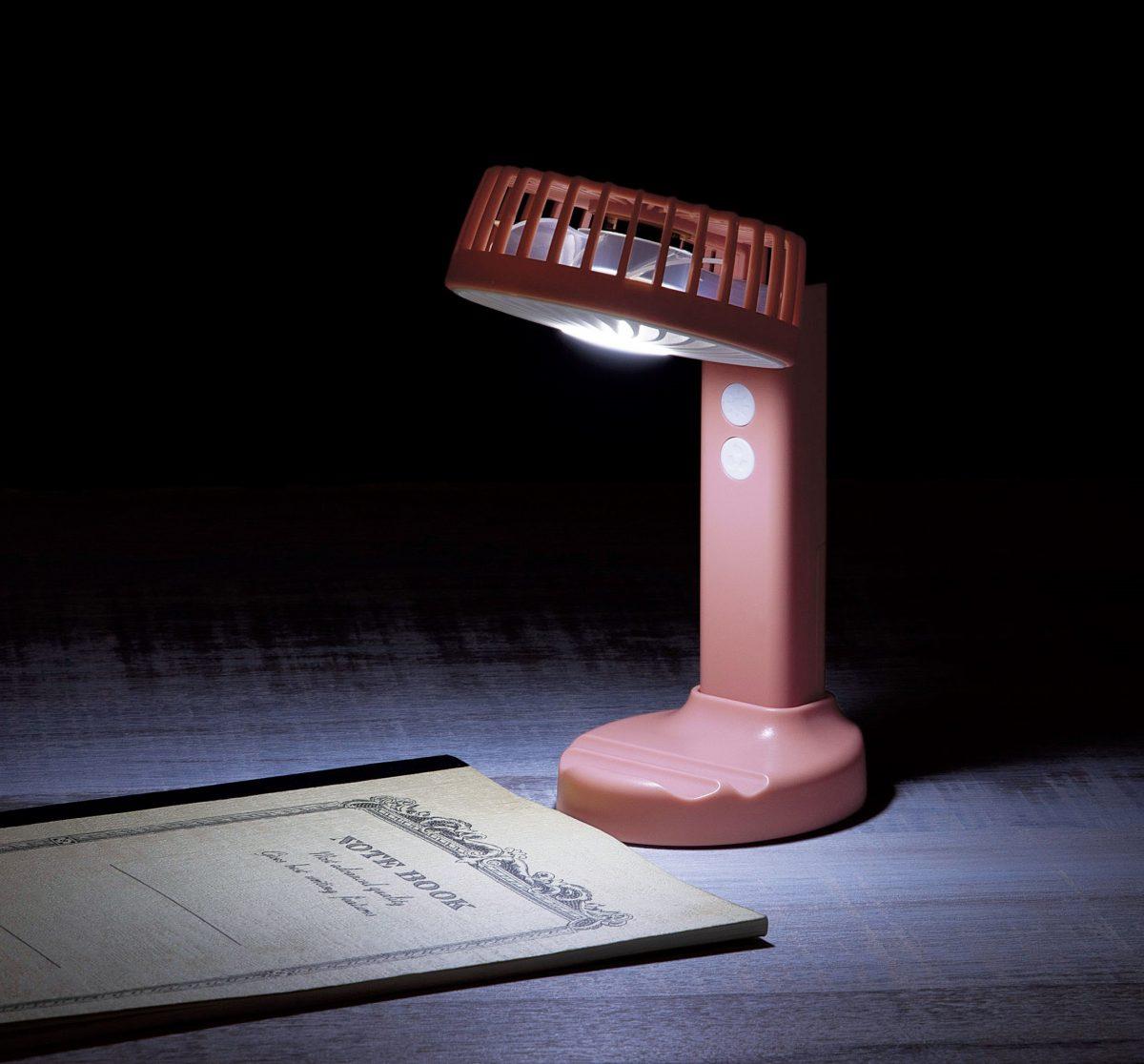 LEDライト付2WAYハンディファン