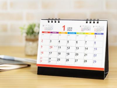 カラフルメモリー卓上カレンダー