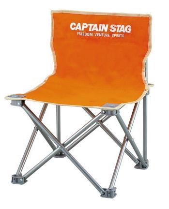 キャプテンスタッグ コンパクトチェアミニ1個(オレンジ)
