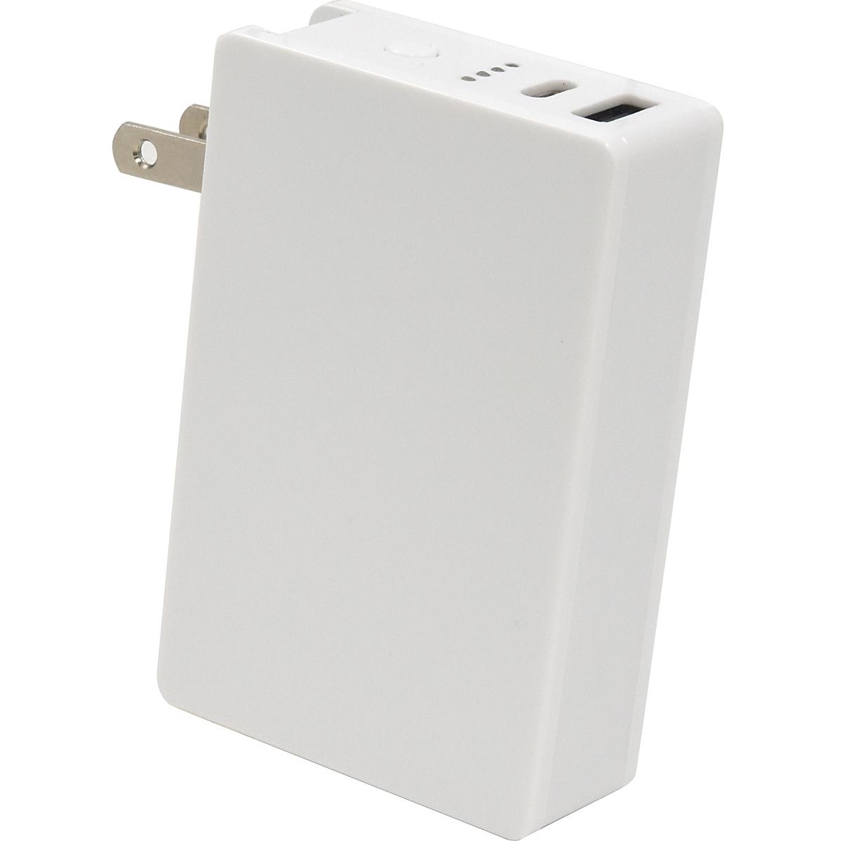 AC充電器一体型6000mAhモバイルバッテリー