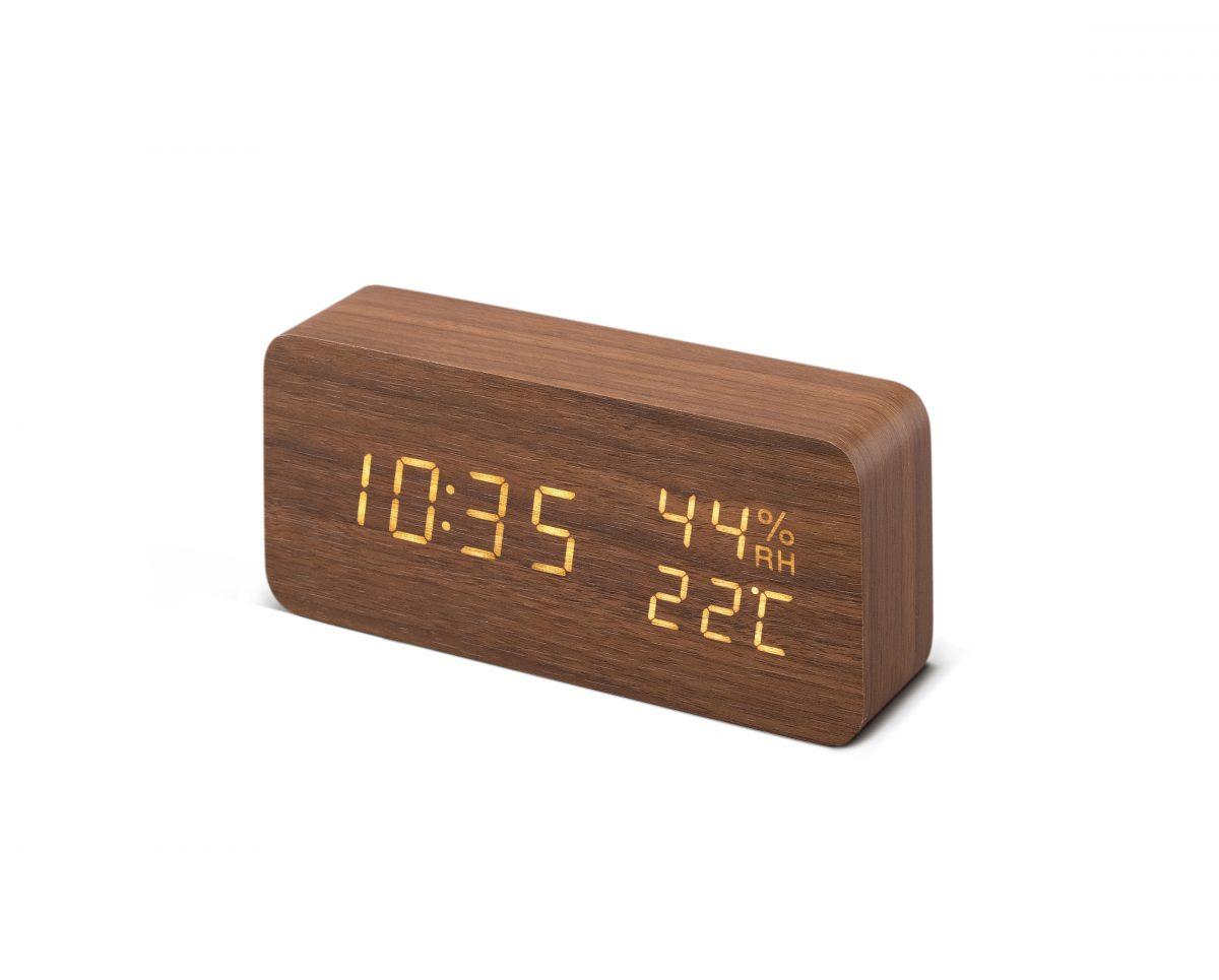 デジタル置時計1台(ブラウン)