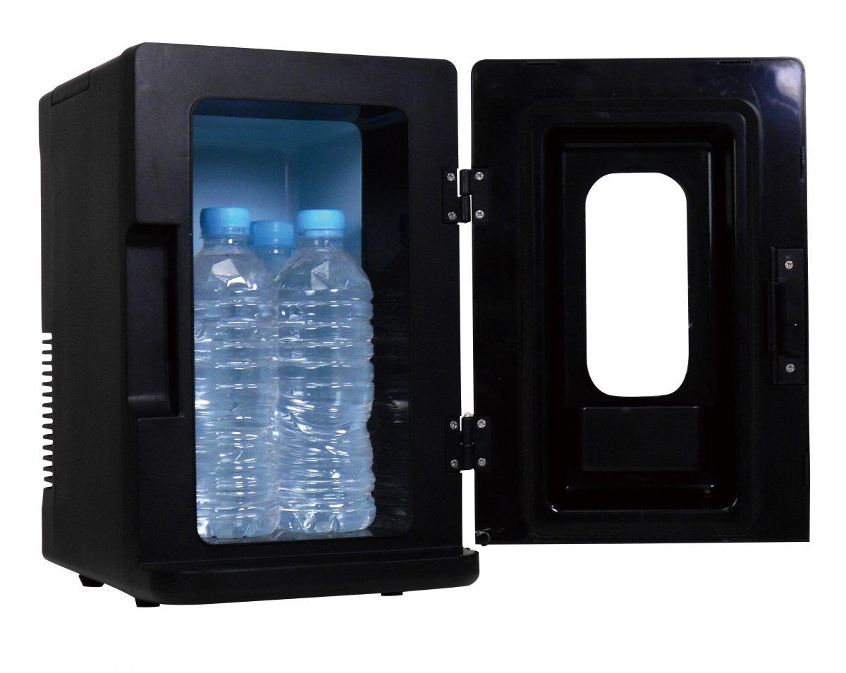 ディスプレー型ポータブル保冷温庫8L1台(ブラック)