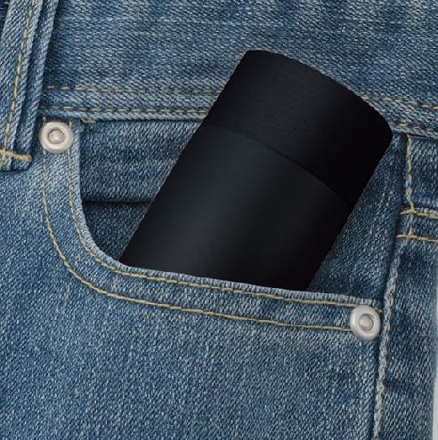 真空ステンレス ポケットボトル(ブラック)