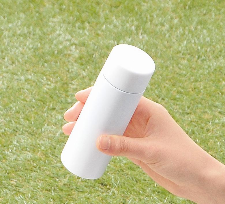 真空ステンレス ポケットボトル(ホワイト)