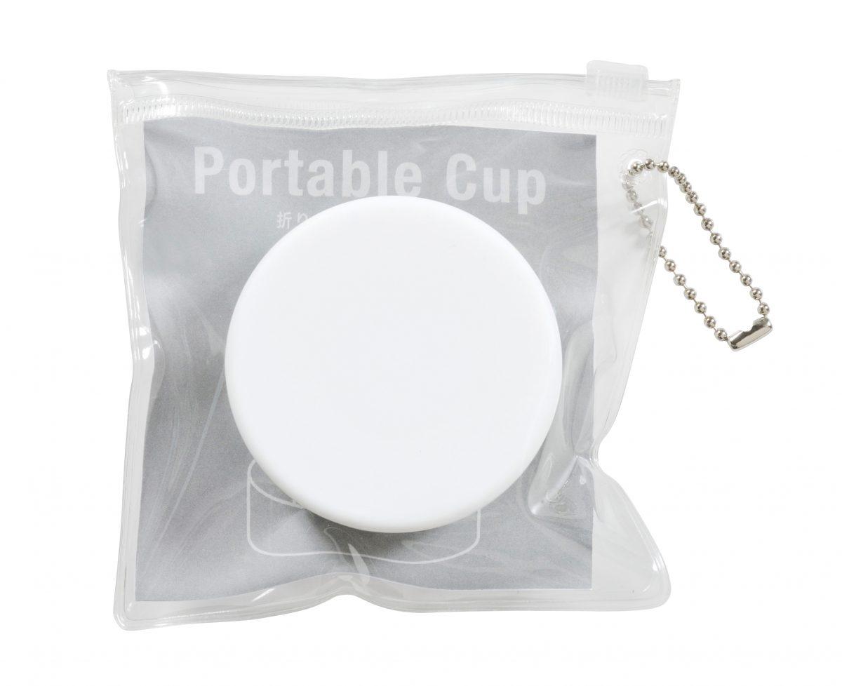 折りたたみ携帯コップ(ホワイト)