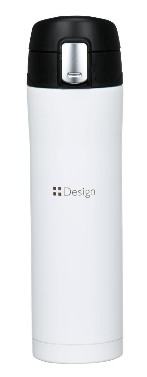 ワンプッシュ真空ステンレスボトル450ml(ホワイト)