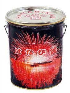 大きめの缶に入った花火