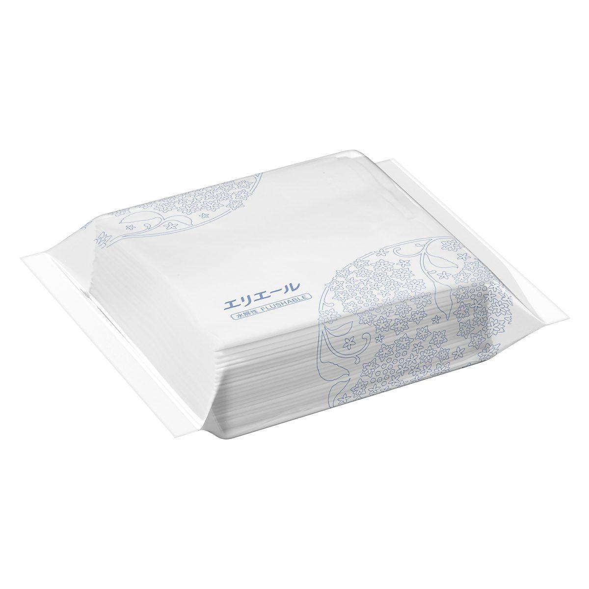 エリエールティシュー50Wポリ包装(パルプ100%水解性)