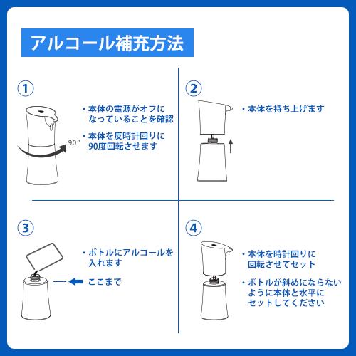 自動アルコールディスペンサー(非接触タイプ)