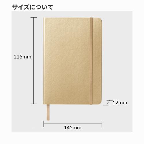 ハードカバーノート(罫線) シルバー/ゴールド