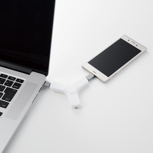 USBケーブル スピナー ブラック