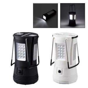 LEDライト部は分けて使えるセパレートランタンです。コンパクトなサイズなので防災時の持ち運びはもちろん、普段、少し手元を照らすために使用することも可能です。ブラック、ホワイトの2色展開でシンプルな見た目なのでベッドサイドなどすぐ手に取れる場所に置いておいても違和感がありません。ご成約時の記念品や社員へのプレゼントにもおすすめです。