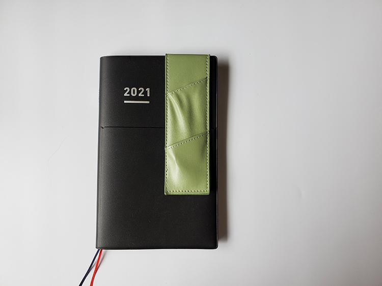「挟めるスリムペンケース」をA5サイズの手帳に取り付けてみた